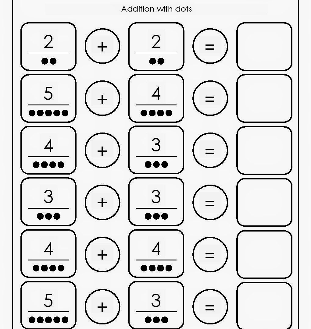 Awesome Preschool Addition Worksheets Free Gallery - General ...