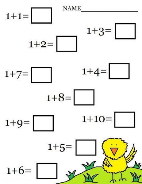 Free Printable Math Addition Worksheets For Kids ...
