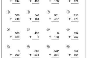 addition math worksheets