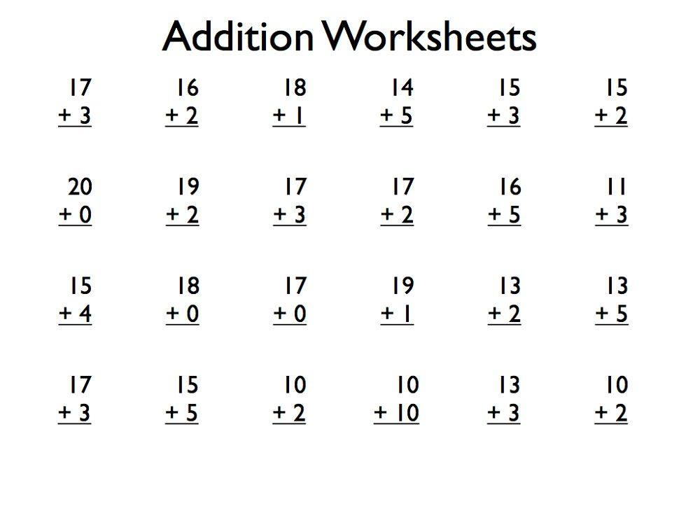 download pdf free printable addition worksheets grade 1 for kids. Black Bedroom Furniture Sets. Home Design Ideas