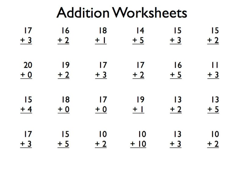 Download PDF  Free Printable Addition Worksheets Grade 1