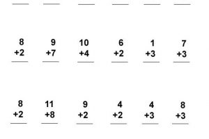{Download PDF} Free Printable basic addition worksheets first grade