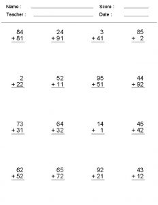 Printable create math worksheets addition