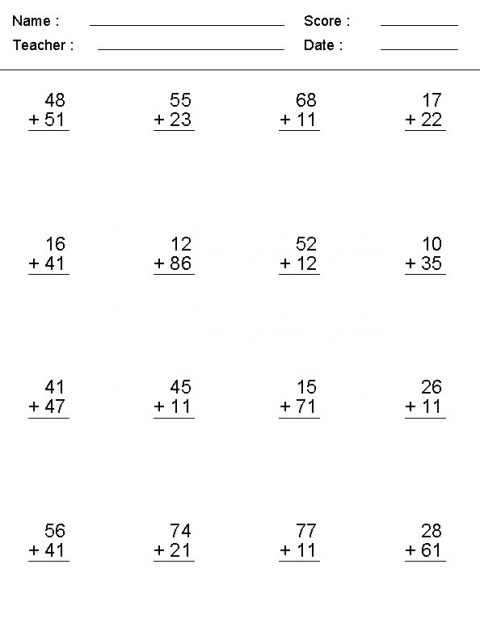 double digit addition with carrying worksheets download pdf. Black Bedroom Furniture Sets. Home Design Ideas