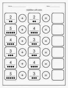 preschool math worksheets addition