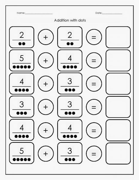 Preschool Math Worksheets Addition  {Download Printable PDF*}