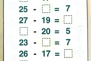 basic subtraction worksheets
