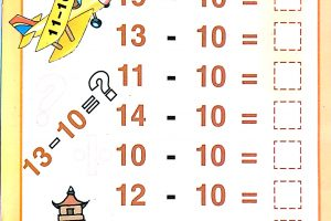 Subtraction Coloring Worksheets 5
