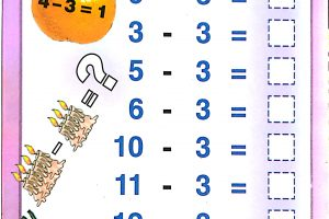 subtraction worksheets kindergarten 6