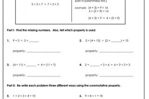 Addition Properties Worksheets 7
