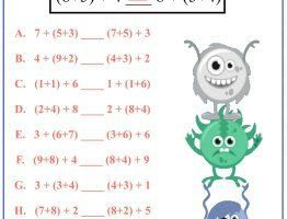 Associative Property Of Addition Worksheets PDF 8