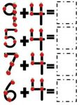 One Digit Addition Worksheets First Grade 3