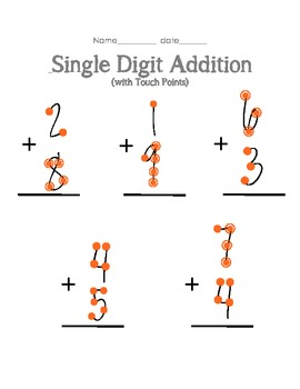 One Digit Addition Worksheets With Pictures 1