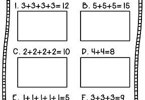 Repeated Addition Array Worksheets