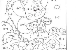 addition and subtraction coloring worksheets pdf 7
