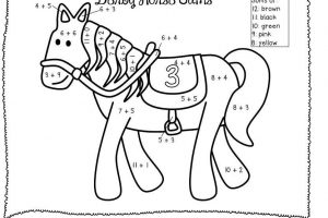 addition coloring worksheets 1st grade 6