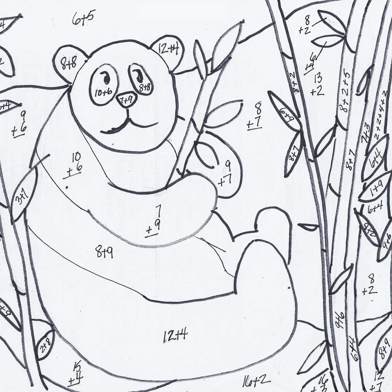 addition coloring worksheets for third grade 3