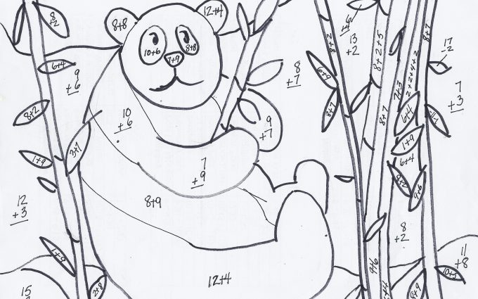 addition coloring worksheets for 2nd grade 2