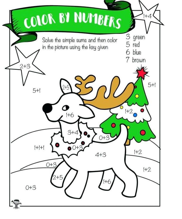 Addition Coloring Worksheets for Kindergarten 1