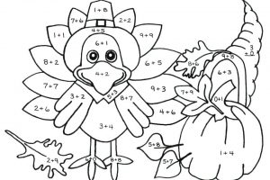 addition coloring worksheets pdf