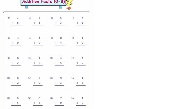 addition fact fluency worksheets 2