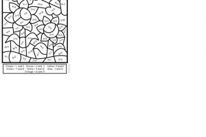 Autumn Addition Coloring Worksheets 7