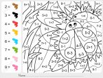 Coloring Addition and Subtraction Worksheets 4
