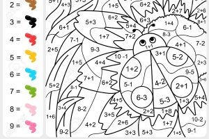 Coloring Addition and Subtraction Worksheets 6