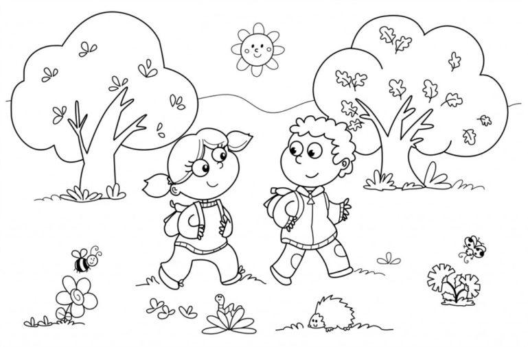 coloring worksheets for kindergarten 1
