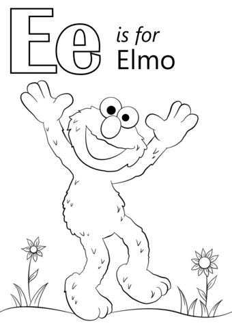 coloring pages starting with e   coloring worksheets letter e - Worksheet School