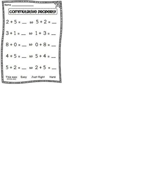 Identity Property of Addition Worksheets 3rd Grade 1