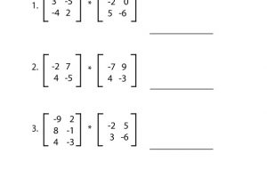 Matrix Addition and Subtraction Worksheets 5