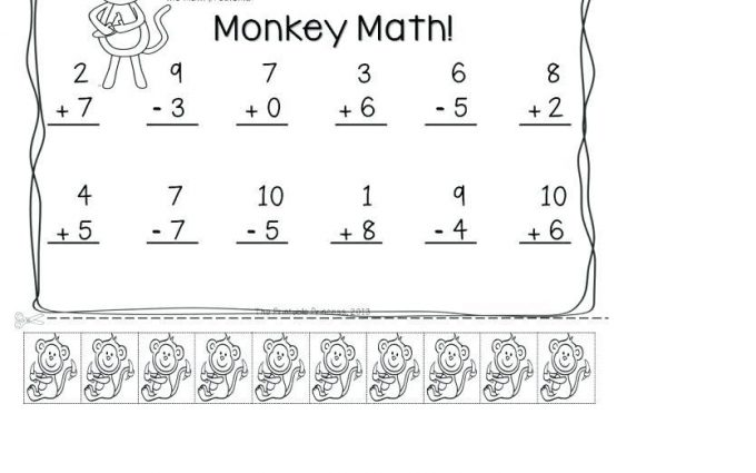 mixed addition and subtraction worksheets for kindergarten 2