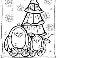 Winter Math Addition Coloring Worksheets 6