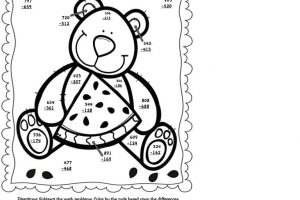 2 Digit Addition With Regrouping Coloring Worksheets 7
