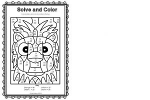 2 Digit Subtraction Coloring Worksheets 7