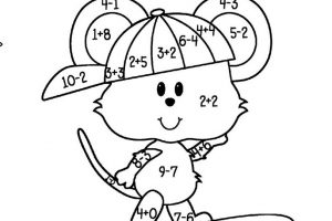 Addition and Subtraction Coloring Worksheets for Kindergarten 5