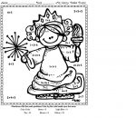 Addition Coloring Worksheets for First Grade 4