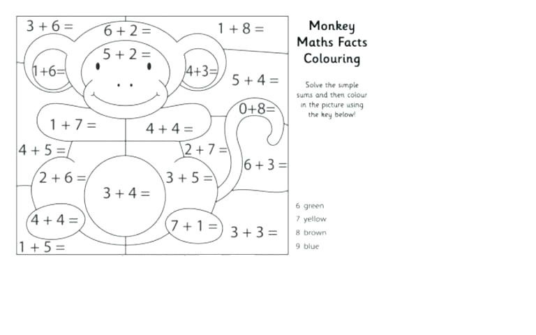 free addition worksheets with coloring 1