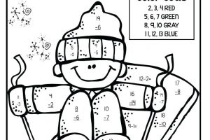 Subtraction Coloring Worksheets for Kindergarten 6