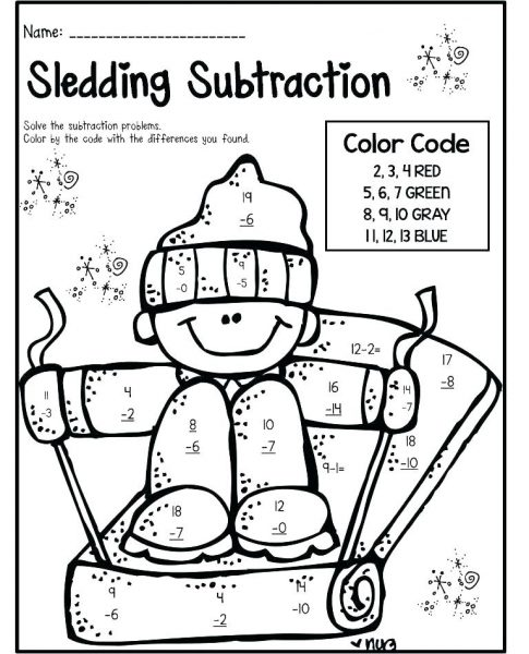subtraction coloring worksheets for kindergarten. Black Bedroom Furniture Sets. Home Design Ideas