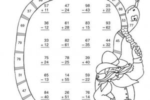 2 Digit Subtraction Without Regrouping Coloring Worksheets 5
