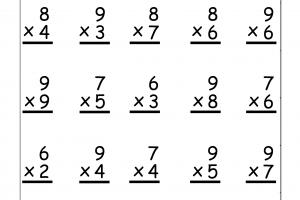 Multiplication Math Worksheets