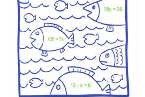 Math Coloring Pages Algebra 6
