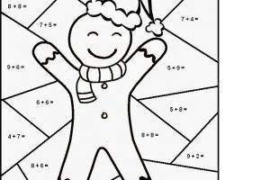 math coloring worksheets christmas 8