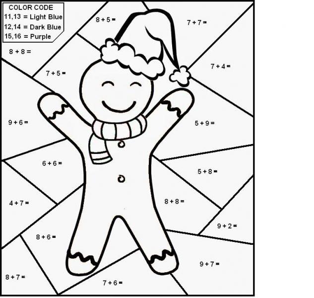 math coloring worksheets christmas 1