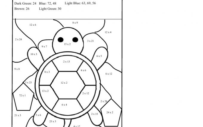 multiplication coloring worksheets grade 3 free