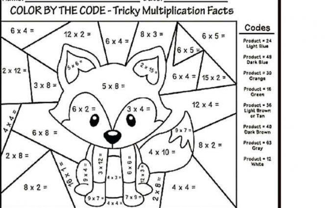 multiplication coloring worksheets halloween