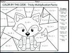 multiplication coloring worksheets pdf