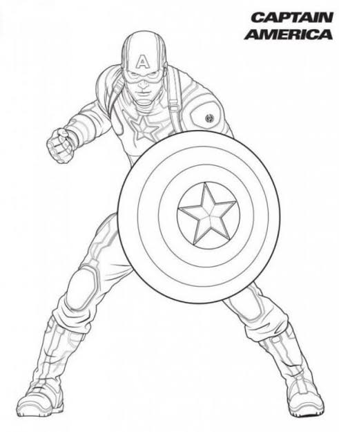 Captain America Superhero Coloring Pages
